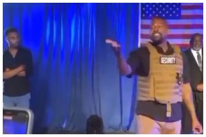 Kanye West holds first event as US prez candidate