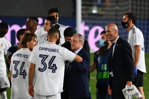 Real Madrid president Florentino Perez calls Zinedine Zidane 'the architect' of La Liga victory