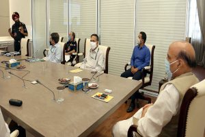Defence Minister Rajnath Singh reviews progress of infrastructure projects in border areas