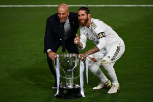 Real Madrid captain Sergio Ramos hails manager Zinedine Zidane after winning La Liga 2019-20
