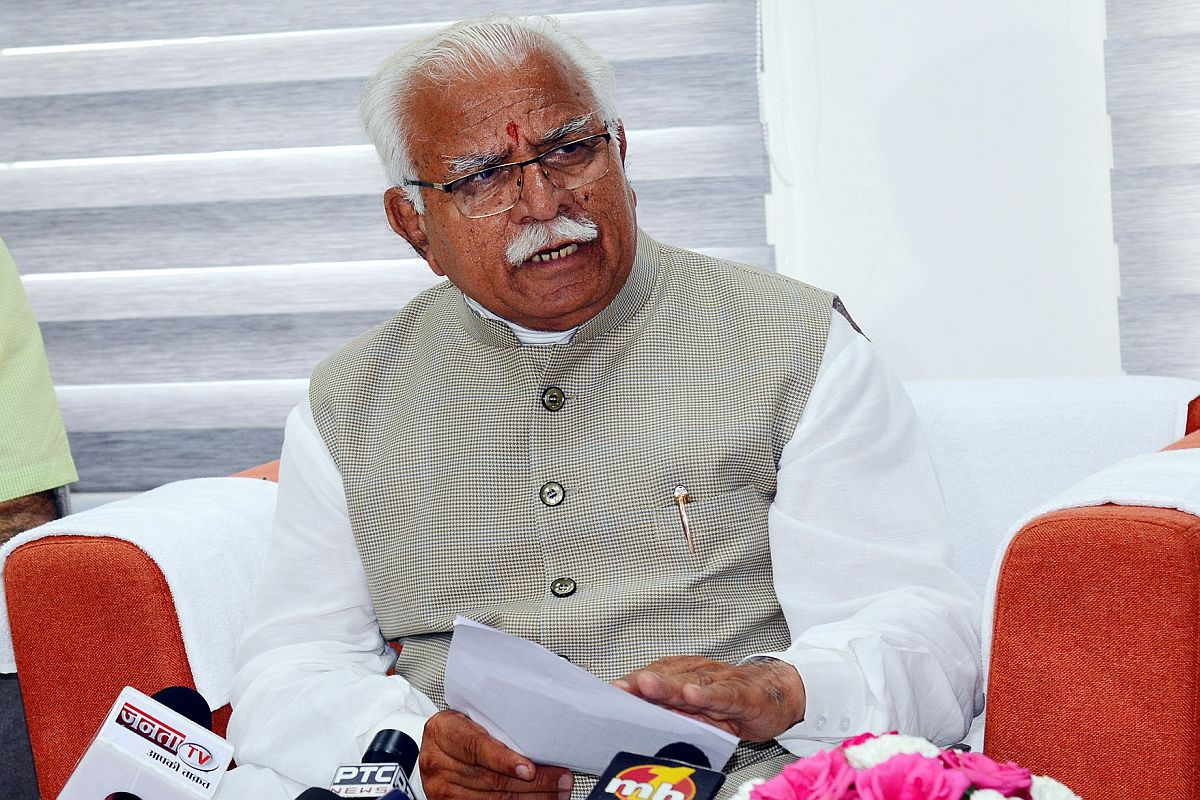 Haryana Chief Minister Manohar Lal Khattar