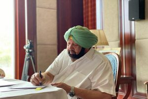 Punjab CM announces '50 lakh, govt job for martyred soldier's kin