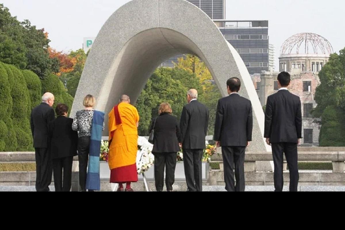 Dalai Lama, world peace, atomic bombings, Shimla, Hiroshima, Nagasaki