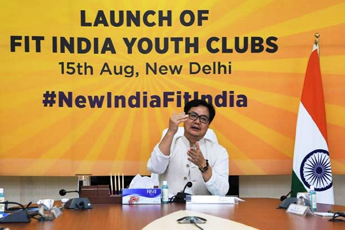 Kiren Rijiju, Fit India Youth Clubs, fitness, Independence Day, Fit India Movement, Narendra Modi