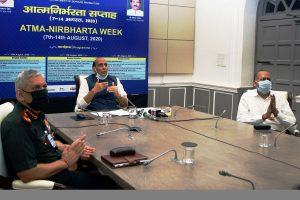Rajnath Singh launches 15 products developed by Defence PSUs, OFB