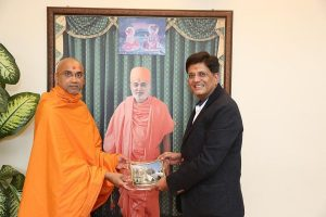 Union Minister Piyush Goyal celebrates silver jubilee of Neasden Temple