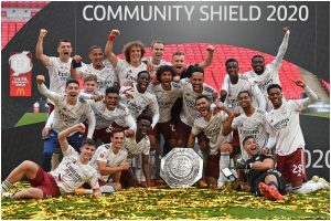 Pierre-Emerick Aubameyang continues romance with Wembley as Arsenal beat Liverpool to win Community Shield