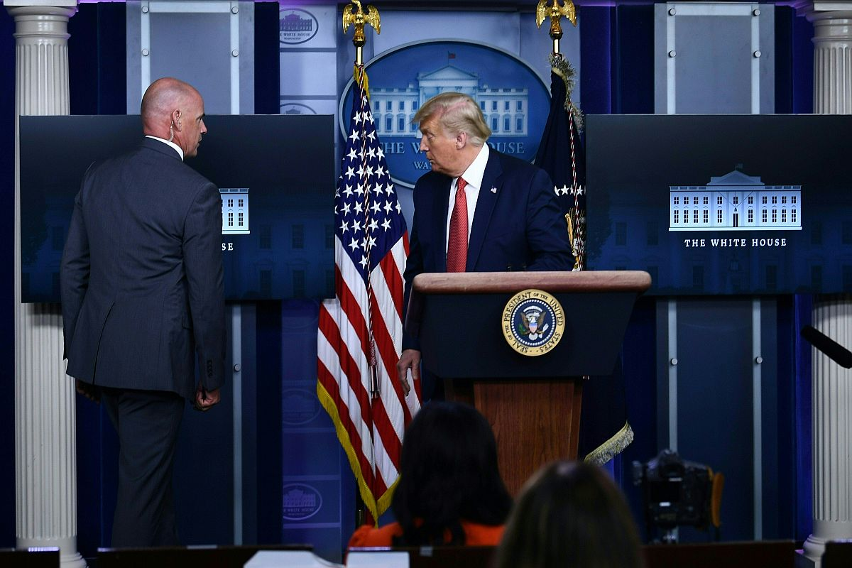 Donald Trump briefly evacuated from presser as Secret Service shoots 'armed' man outside White House