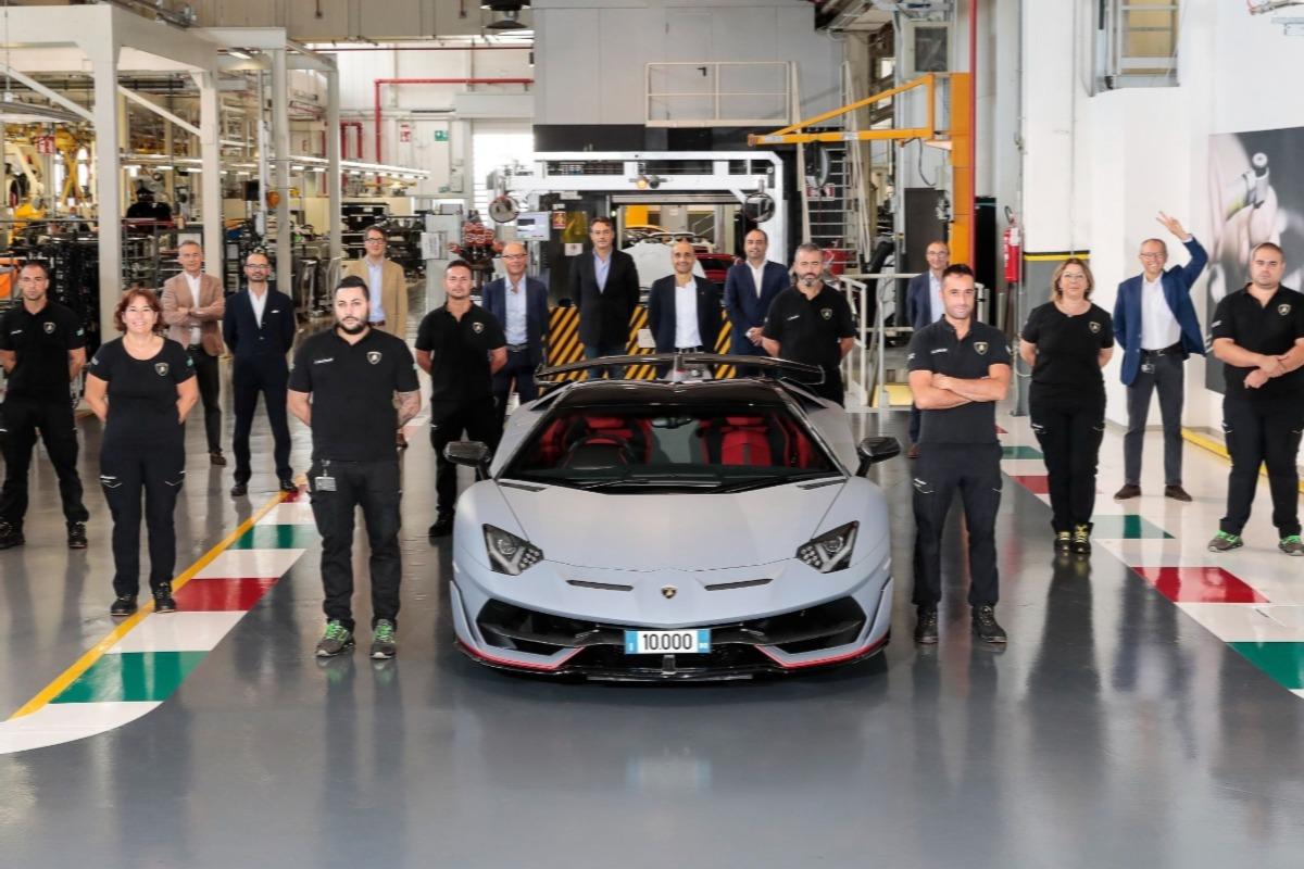 10,000th Aventador, Lamborghini, Aventador, Grigio Acheso