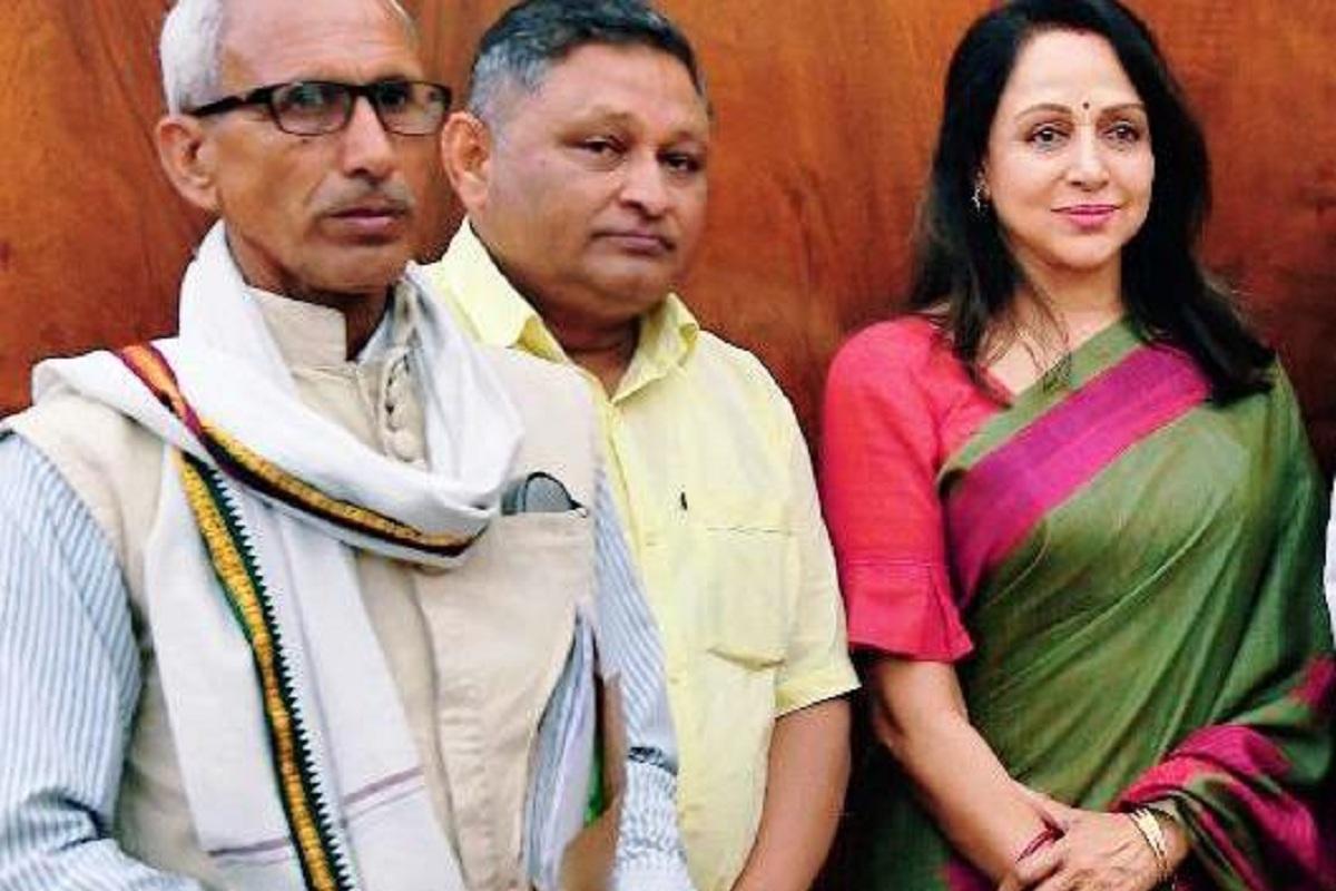 Hema Malini, EPS-95 pensioners, BJP, Mathura, Santosh Gangwar, EPS-95