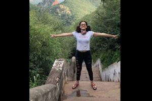 Taapsee Pannu goes hiking in the outskirts of Jaipur