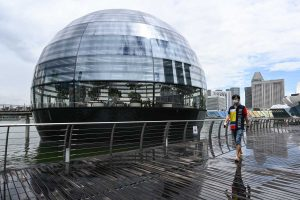 Apple's first ever floating store opens in Singapore