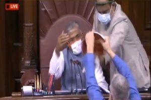TMC MP Derek O'Brien tries to tear rule book, heckles presiding officer during RS proceedings