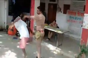 UP cop beats, pushes on ground physically handicapped e-rickshaw driver in Kannauj; suspended