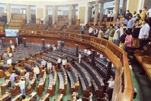 With masks, staggered seating, mobile app for attendance, monsoon session of Parliament begins