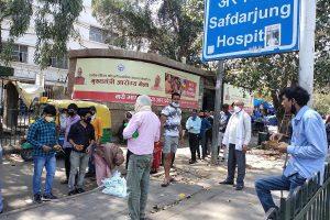 Bhim Army protests at Safdarjung hospital, demands death penalty for culprits of Hathras gang rape