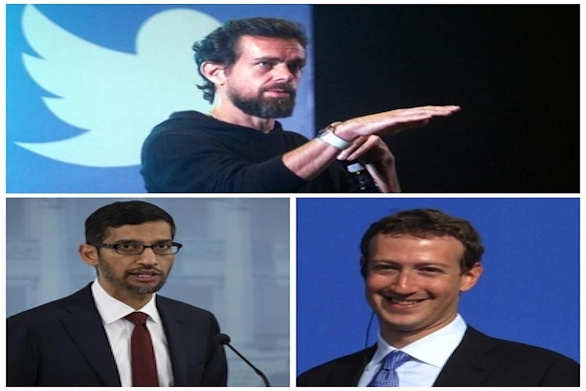 US lawmakers, Google, Facebook, Twitter, CEOs,
