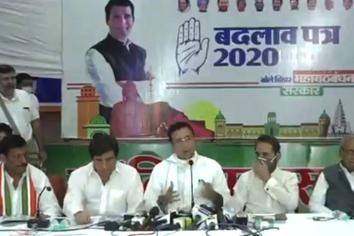 Congress, Bihar poll, Patna, Bihar Badlav Patra 2020, Bihar, NDA, Farm Bills, Punjab, Rashtriya Janata Dal, RJD
