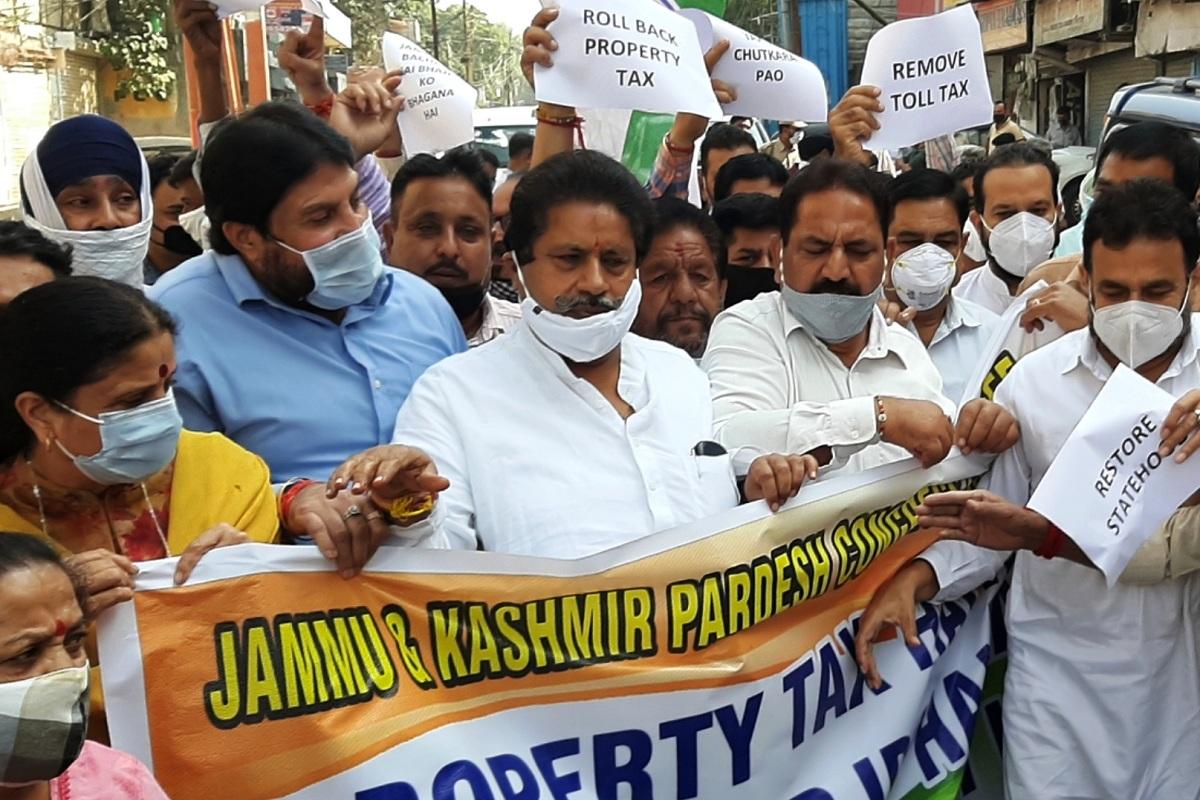 J&K Congress, Jammu, Congress, JKPCC, property tax, Jammu and Kashmir, BJP, Kashmir, covid-19