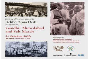 58th session of Dekho Apna Desh Webinar Series on Gandhi, Ahmedabad and Salt March organised