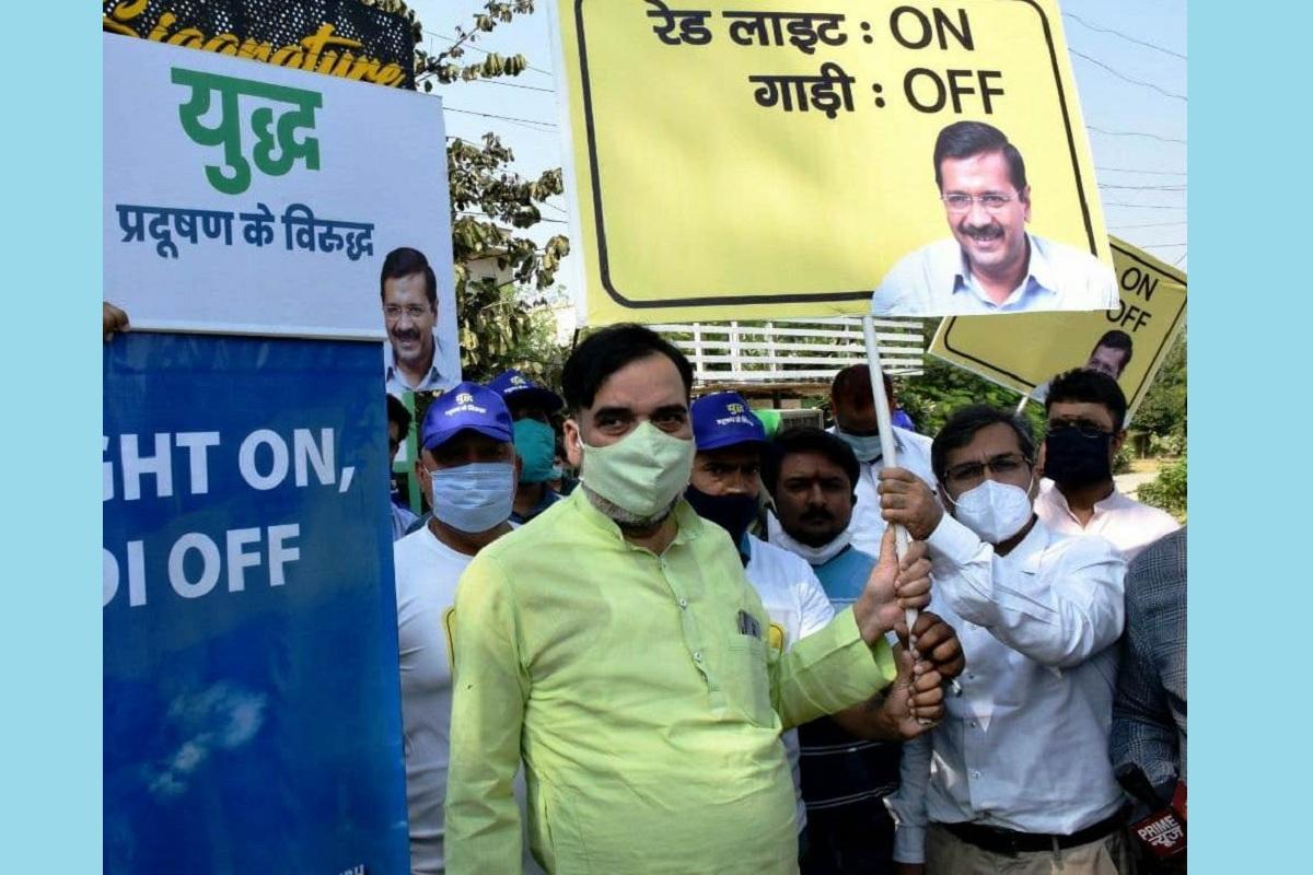 Delhi Government, Red Light On Gaadi Off, pollution, Gopal Rai, Delhi, Arvind Kejriwal