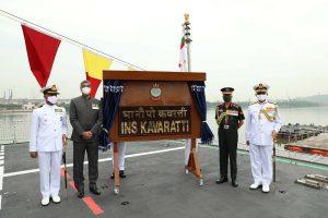 COAS General Manoj Mukund Naravane commissions INS Kavaratti