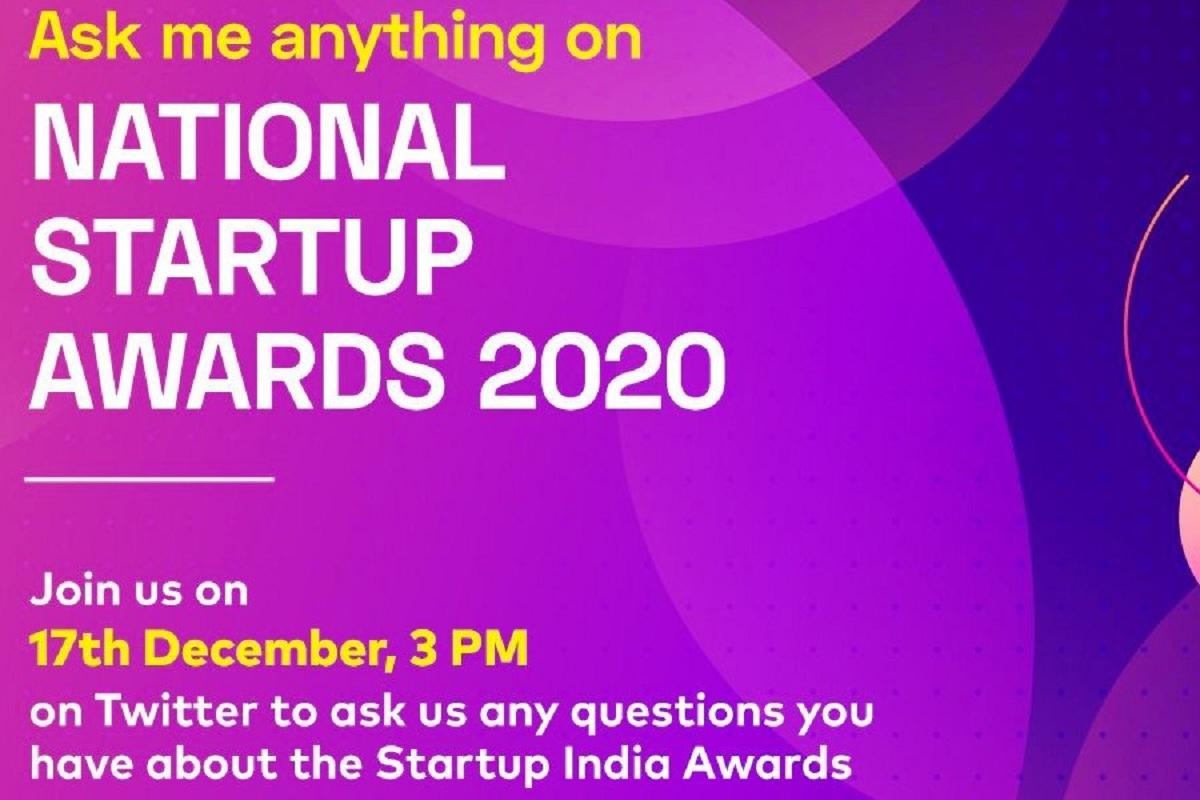 National Startup Awards 2020, Piyush Goyal, DPIIT, National Startup Awards