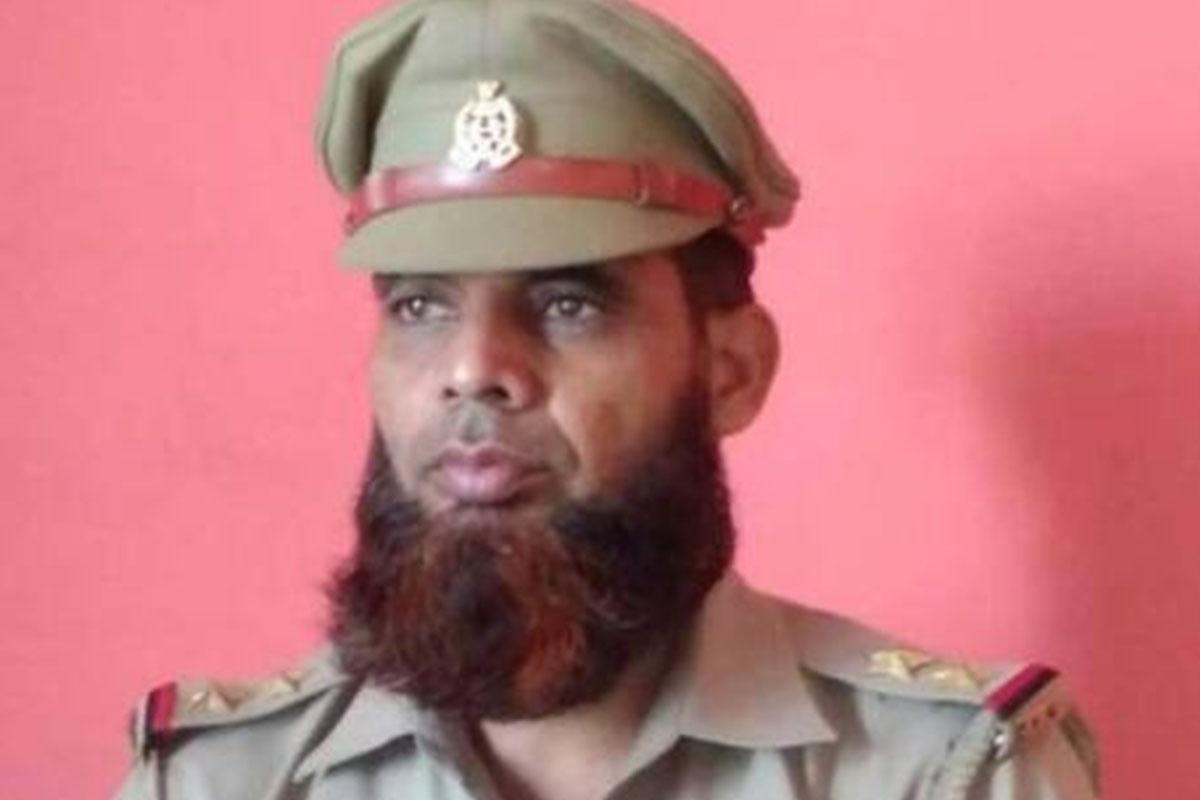 Uttar Pradesh, Cop suspended, Beard, Intesar Ali, Baghpat, UP Police