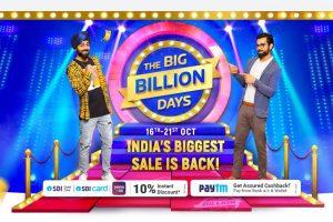 Flipkart's 'The Big Billion Days' sale to kick off from October 16