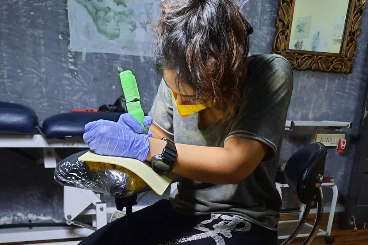 Aamir Khan, Ira Khan, tattoo artist