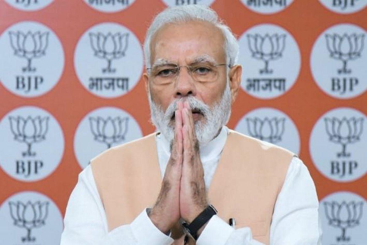 Bharatiya Janata Party (BJP), Prime Minister Narendra Modi, virtual address, Pujor Shubecha,