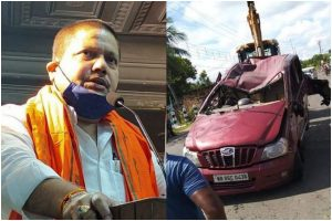 BJP MP Arjun Singh's convoy suffers accident on way to Bashirhat; 3 commandos injured