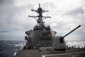 China 'warns' US after its warship sails through Taiwan Strait