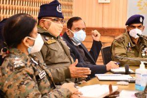 Advisor, DGP review security arrangements in central Kashmir
