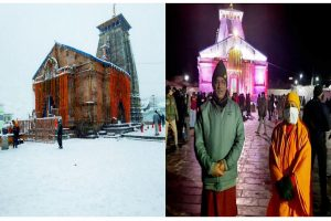 Yogi offers prayer at Kedarnath, inspects reconstruction work
