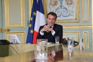 French President Emmanuel Macron tested positive for Covid-19, will self-isolate for next week