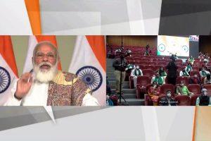 PM Modi unveils various facilities at 8th convocation of Pandit Deendayal Petroleum University