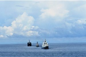 Navies of India, Singapore, and Thailand conducting trilateral maritime exercise Sitmex-20 in Andaman Sea