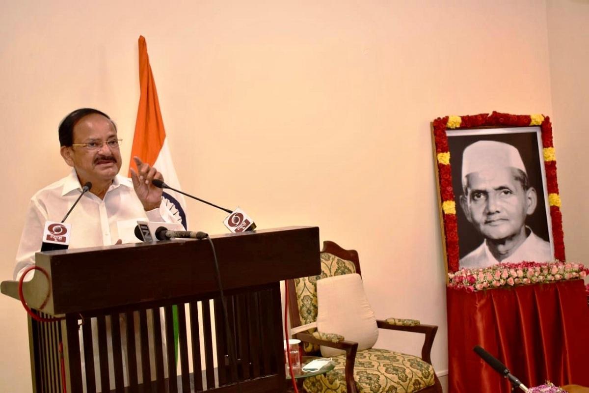 Vice President Naidu, terrorism, M Venkaiah Naidu, Venkaiah Naidu, Sudha Murty, Lal Bahadur Shastri