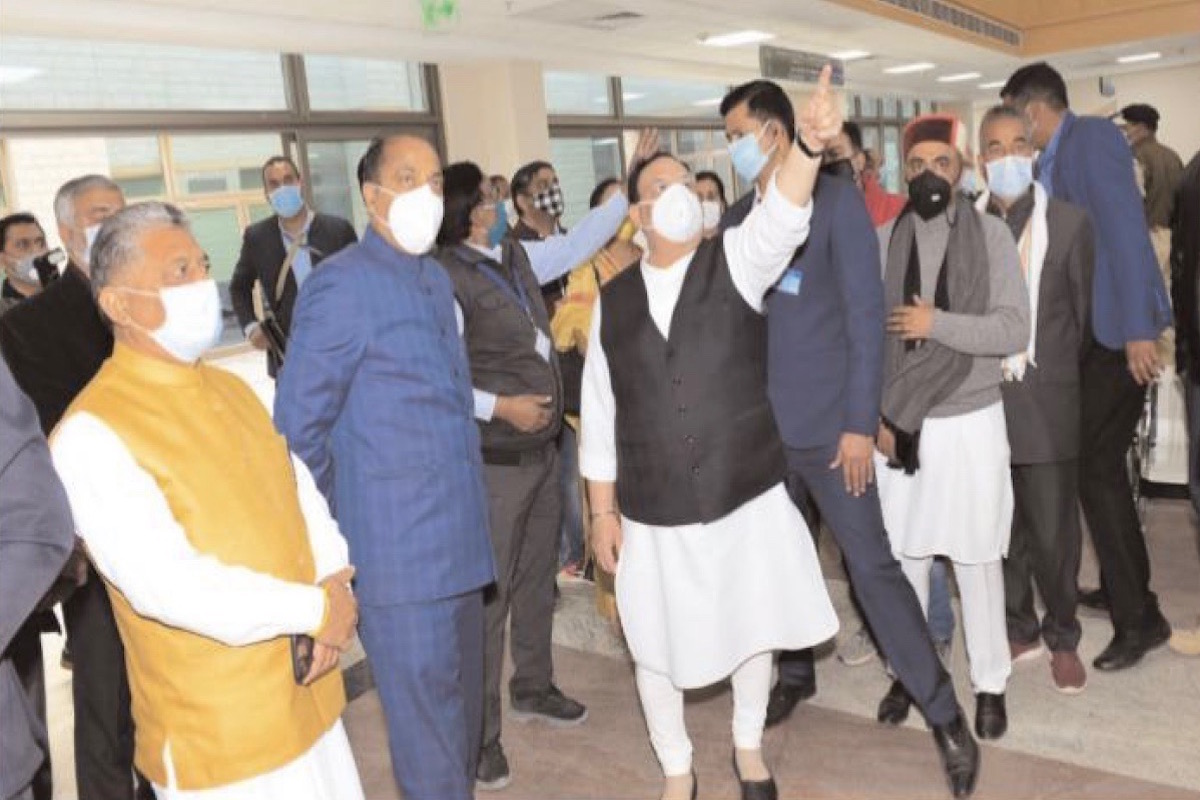 BJP President J P Nadda, Himachal Pradesh Chief Minister Jai Ram Thakur, All India Institute of Medical Sciences (AIIMS), Kothipura,