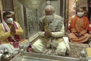 PM Modi offers prayers at Kashi Vishwanath Temple, takes tour of corridor project