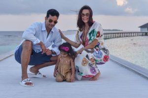Neha Dhupia, Angad Bedi pen birthday wishes for their 'little simba'