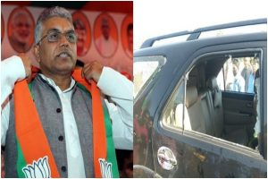 BJP state president Dilip Ghosh's convoy attacked in West Bengal's Alipurduar