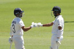 Ajinkya Rahane, Cheteshwar Pujara in runs during warm-up match against Australia 'A'
