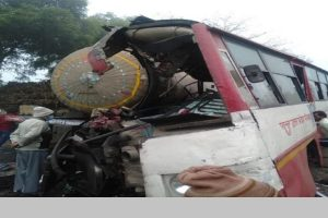 8 dead, 22 injured as bus collides with tanker