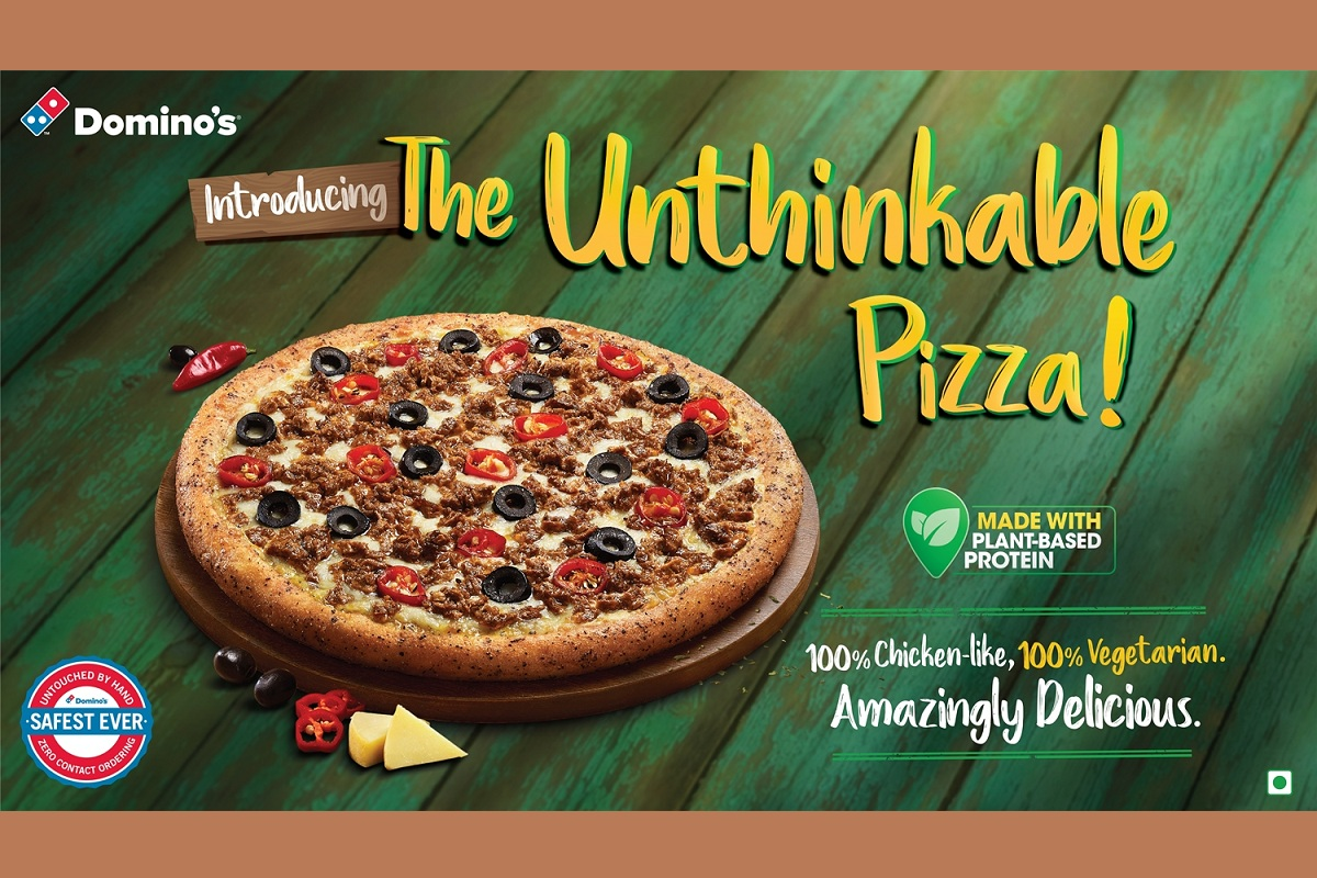 Domino's Pizza, The Unthinkable Pizza, plant-protein pizza