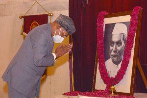 President, Vice President, PM pay homage to Dr Rajendra Prasad on his birth anniversary