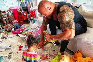 Dwayne Johnson shares experience of playing with daughter's Barbie