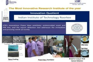 IIT Roorkee adjudged 'The Most Innovative Institute of the Year'
