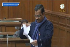 'Don't become worse than Britishers': Arvind Kejriwal tears copies of farm bills during special Assembly session